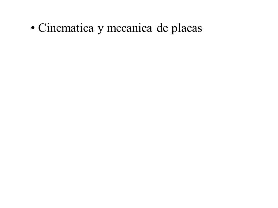 Cinematica y mecanica de placas