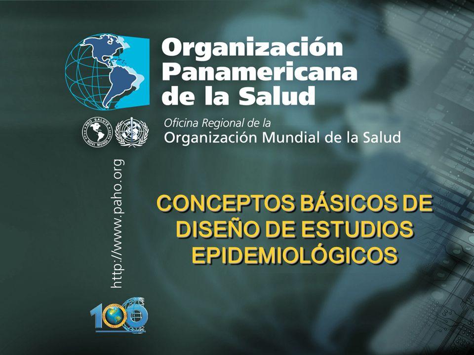 CONCEPTOS BÁSICOS DE DISEÑO DE ESTUDIOS EPIDEMIOLÓGICOS