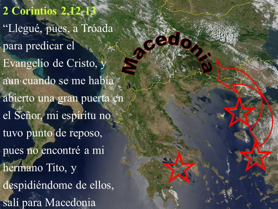 2 Corintios 2,12-13