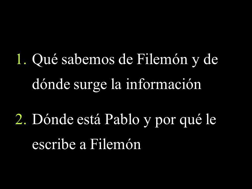 Qué sabemos de Filemón y de dónde surge la información