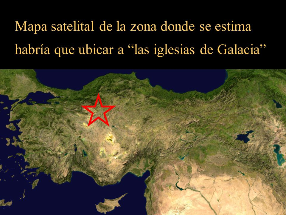 Mapa satelital de la zona donde se estima