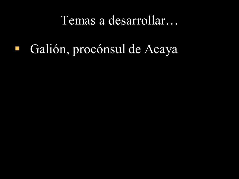 Galión, procónsul de Acaya