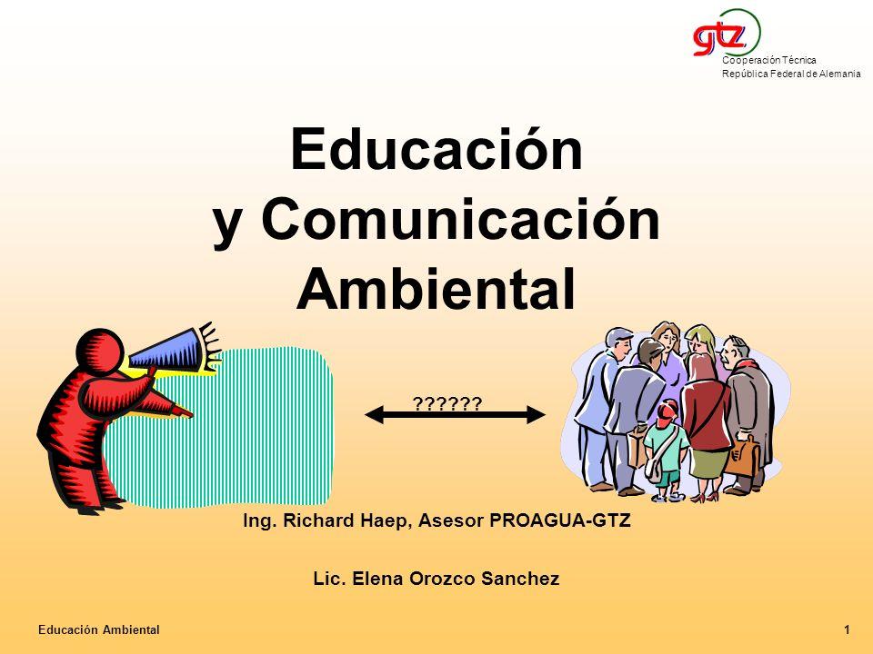 Educación y Comunicación Ambiental. Ing