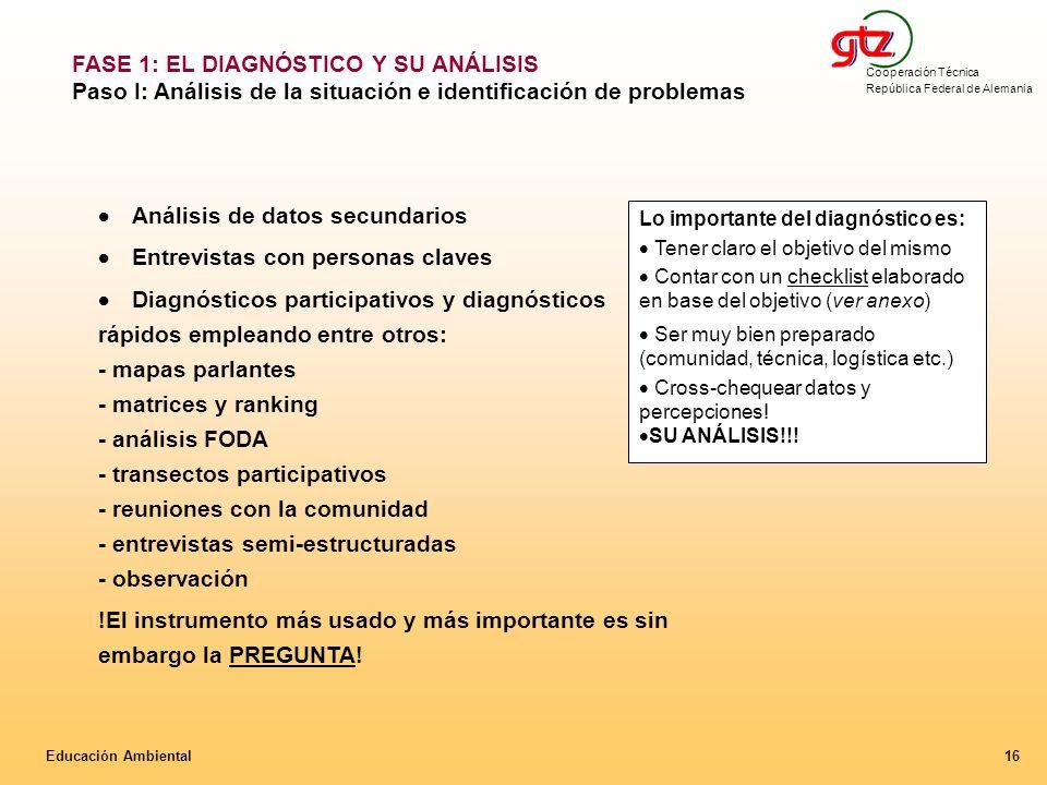 FASE 1: EL DIAGNÓSTICO Y SU ANÁLISIS