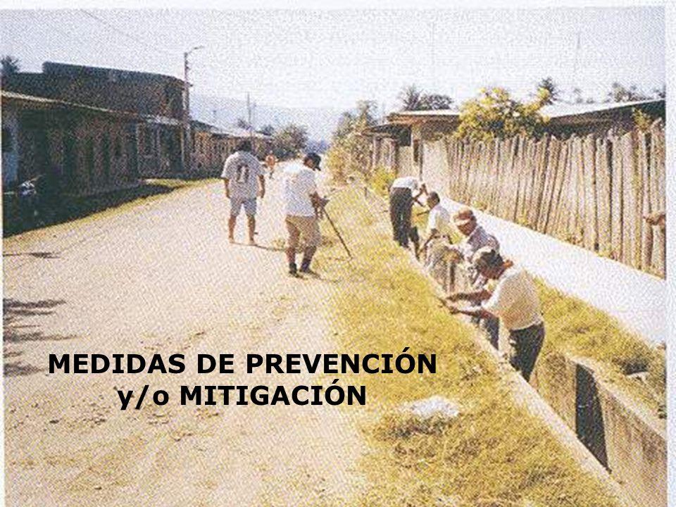 MEDIDAS DE PREVENCIÓN y/o MITIGACIÓN