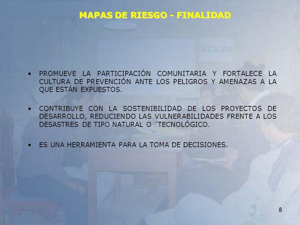 MAPAS DE RIESGO - FINALIDAD