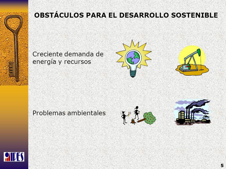 OBSTÁCULOS PARA EL DESARROLLO SOSTENIBLE