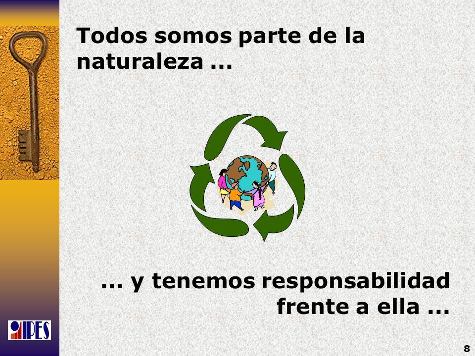 Todos somos parte de la naturaleza ...