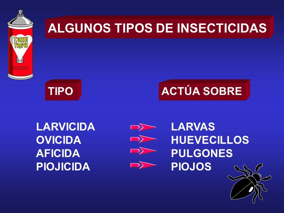 ALGUNOS TIPOS DE INSECTICIDAS