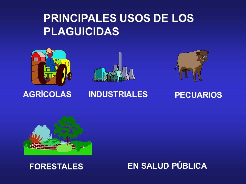 PRINCIPALES USOS DE LOS PLAGUICIDAS