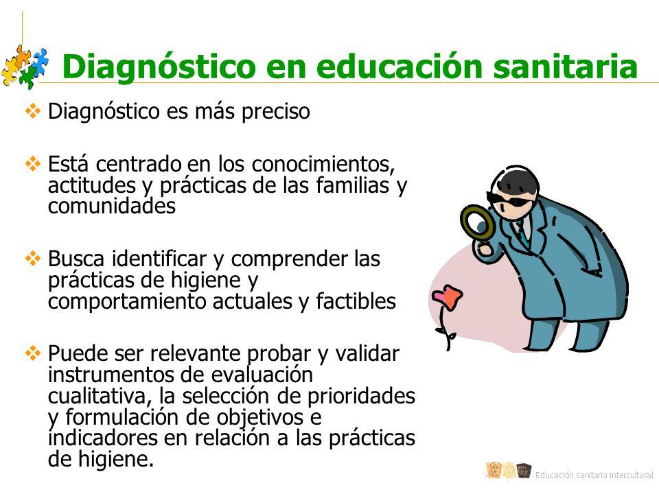 Diagnóstico en educación sanitaria