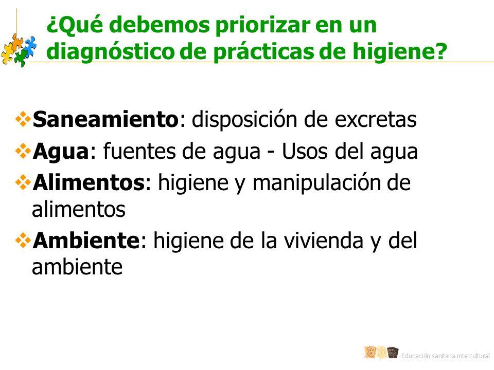 ¿Qué debemos priorizar en un diagnóstico de prácticas de higiene