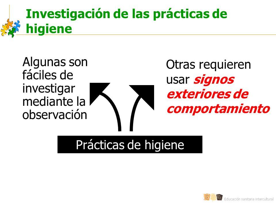 Investigación de las prácticas de higiene