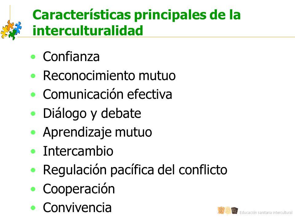 Características principales de la interculturalidad