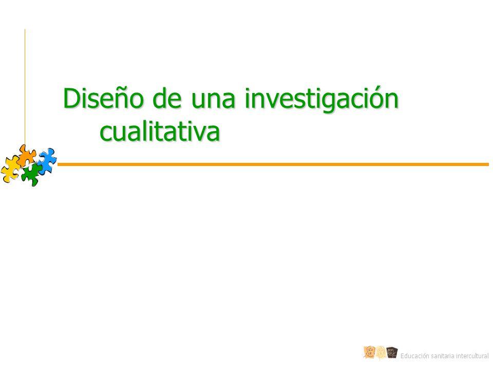 Diseño de una investigación cualitativa