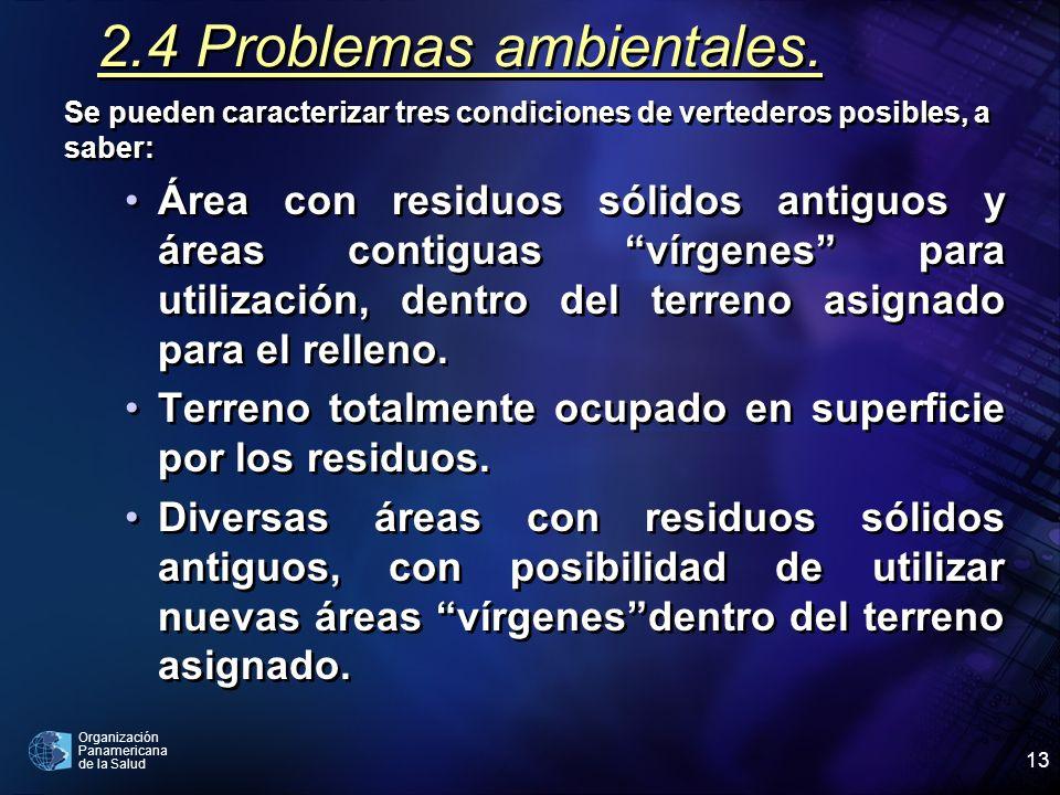 2.4 Problemas ambientales.