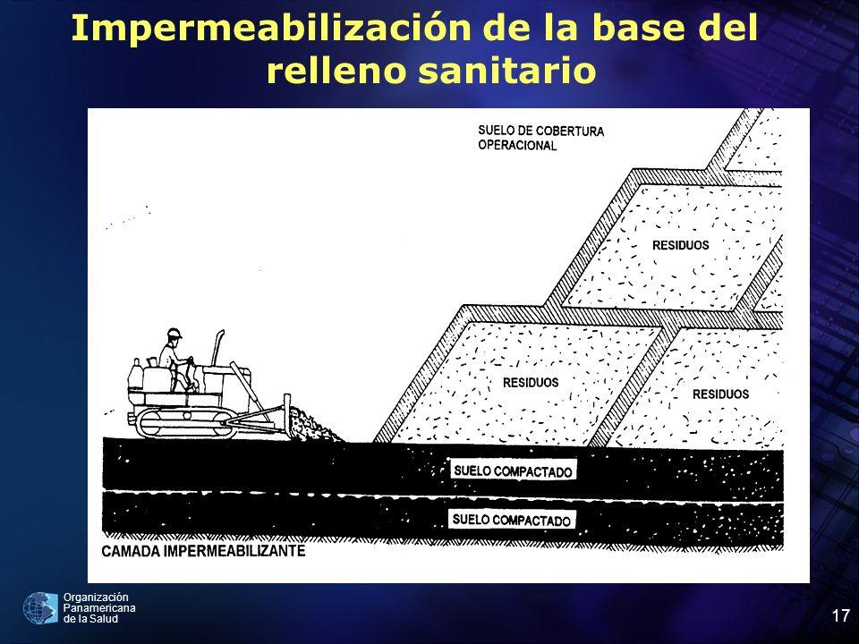 Impermeabilización de la base del relleno sanitario