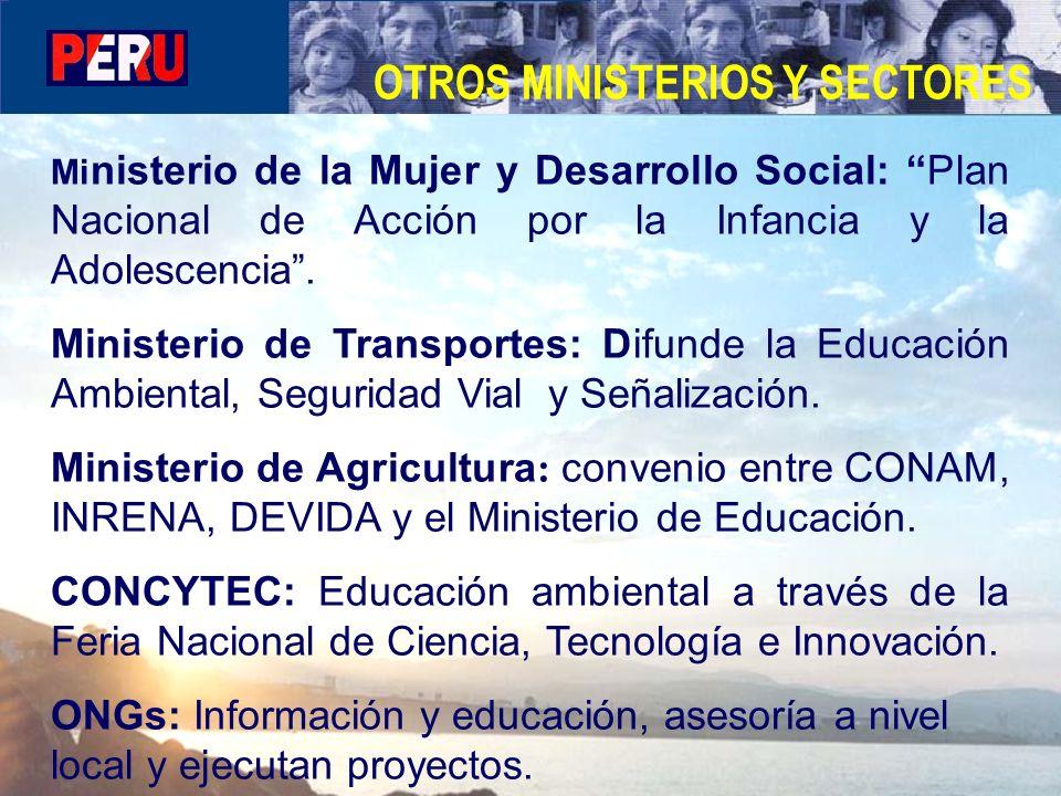 OTROS MINISTERIOS Y SECTORES