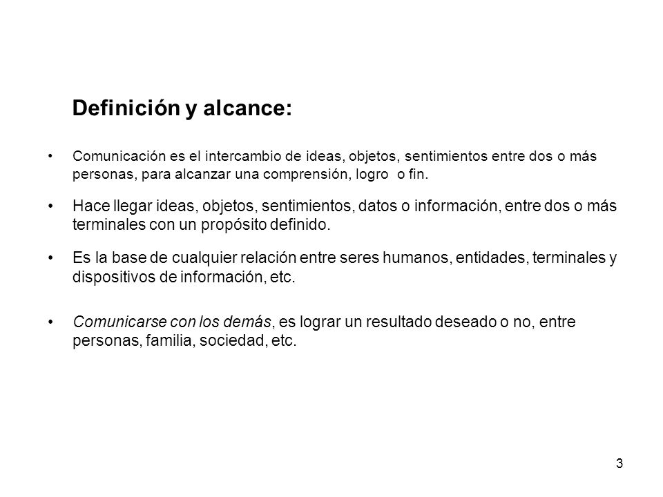 Definición y alcance: