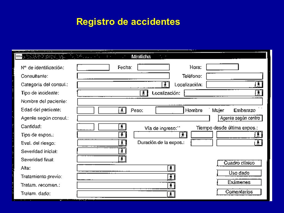 Registro de accidentes