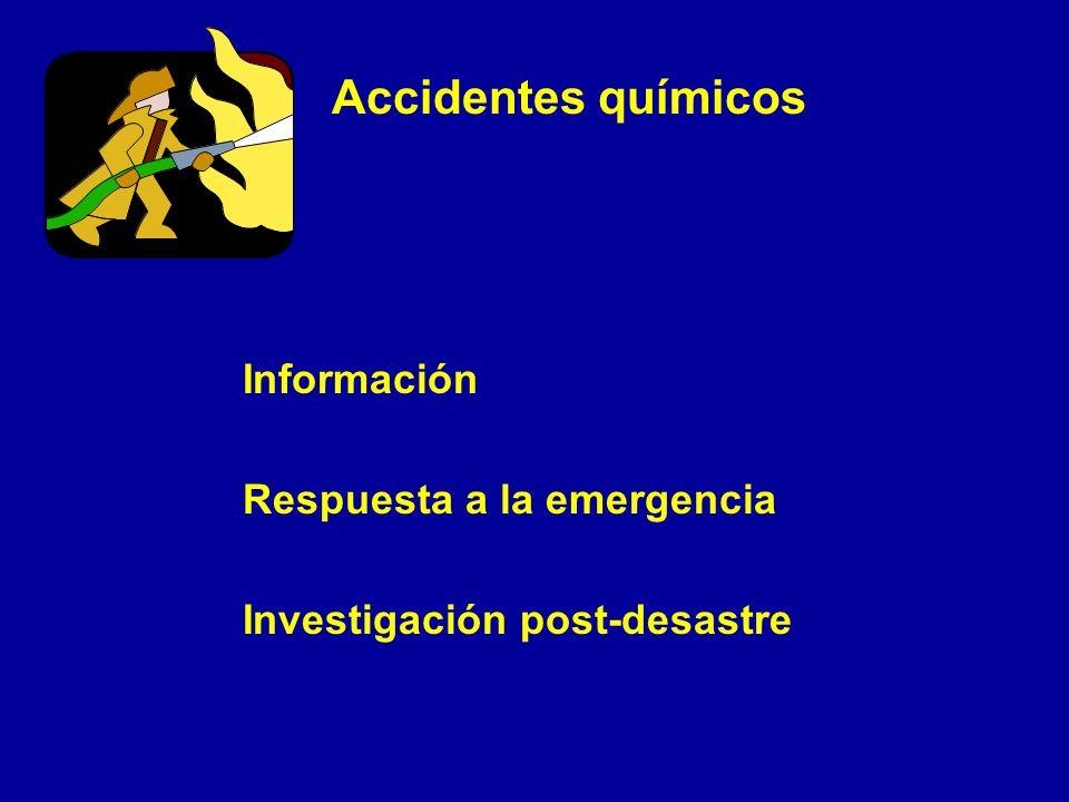 Accidentes químicos Información Respuesta a la emergencia