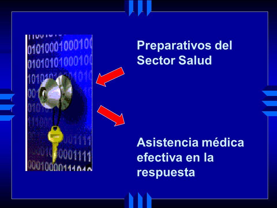 Preparativos del Sector Salud Asistencia médica efectiva en la respuesta