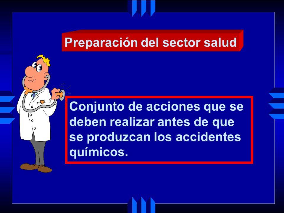 Preparación del sector salud