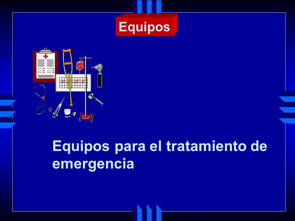 Equipos para el tratamiento de emergencia