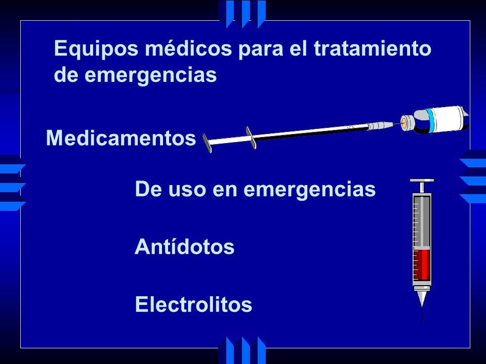 Equipos médicos para el tratamiento