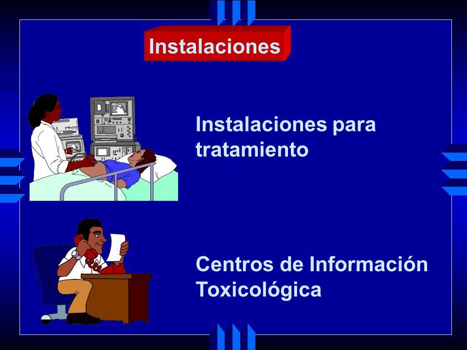 Instalaciones Instalaciones para tratamiento Centros de Información Toxicológica