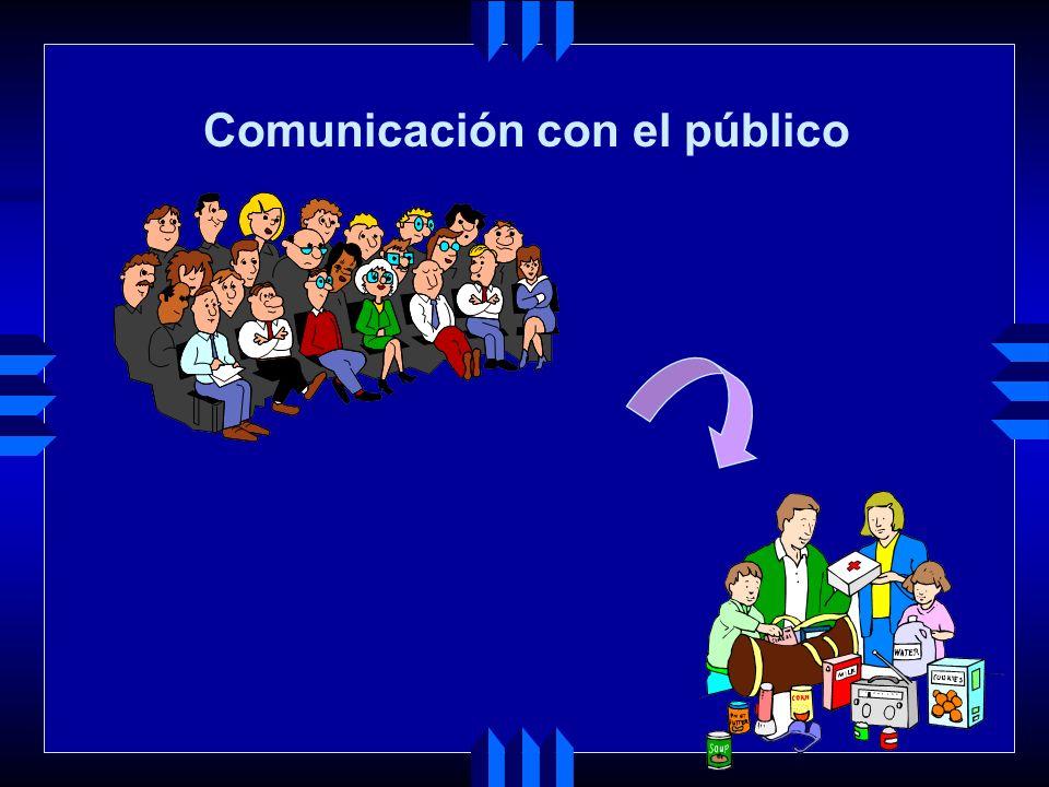 Comunicación con el público