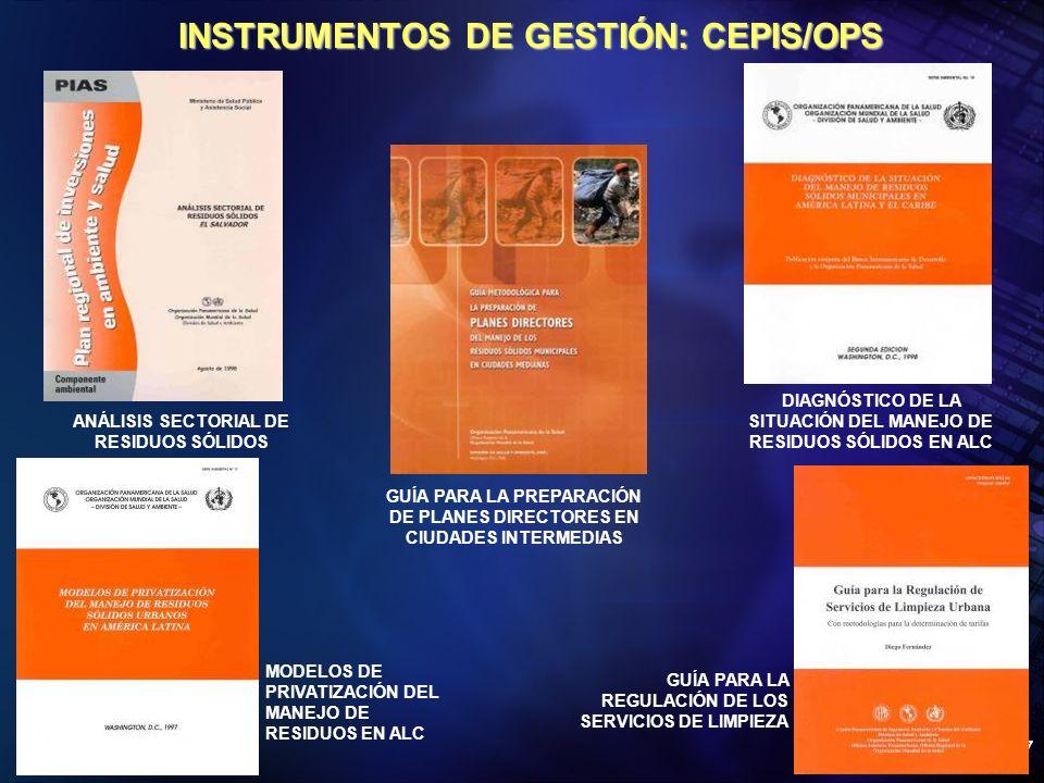 INSTRUMENTOS DE GESTIÓN: CEPIS/OPS
