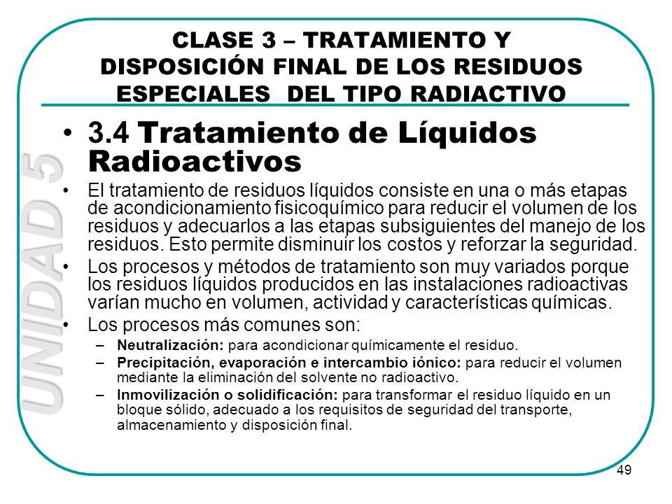 3.4 Tratamiento de Líquidos Radioactivos