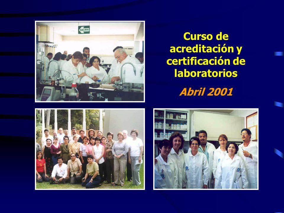 Curso de acreditación y certificación de laboratorios