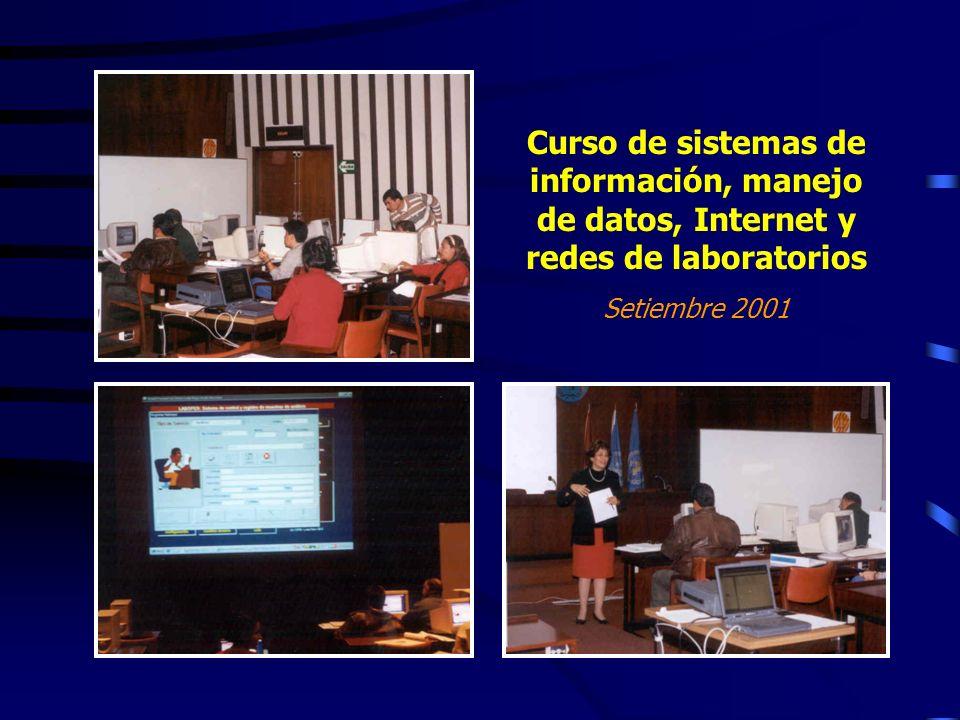 Curso de sistemas de información, manejo de datos, Internet y redes de laboratorios