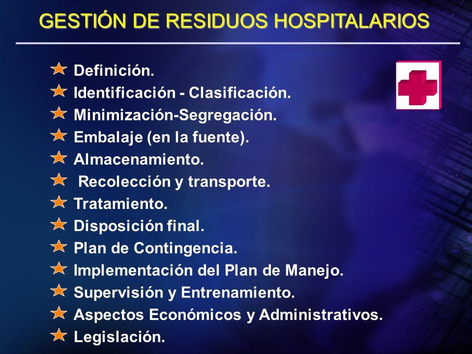 GESTIÓN DE RESIDUOS HOSPITALARIOS