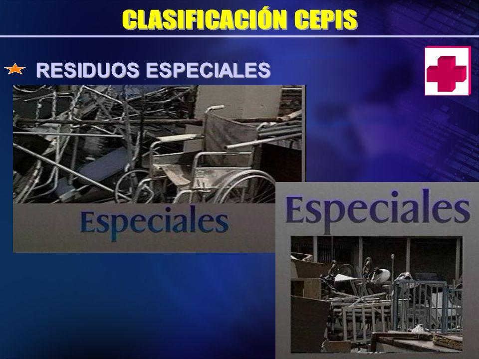 CLASIFICACIÓN CEPIS RESIDUOS ESPECIALES