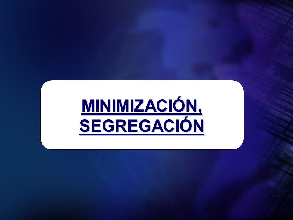 MINIMIZACIÓN, SEGREGACIÓN