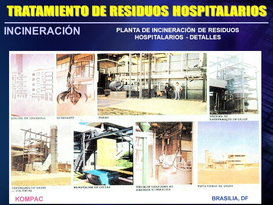 PLANTA DE INCINERACIÓN DE RESIDUOS HOSPITALARIOS - DETALLES