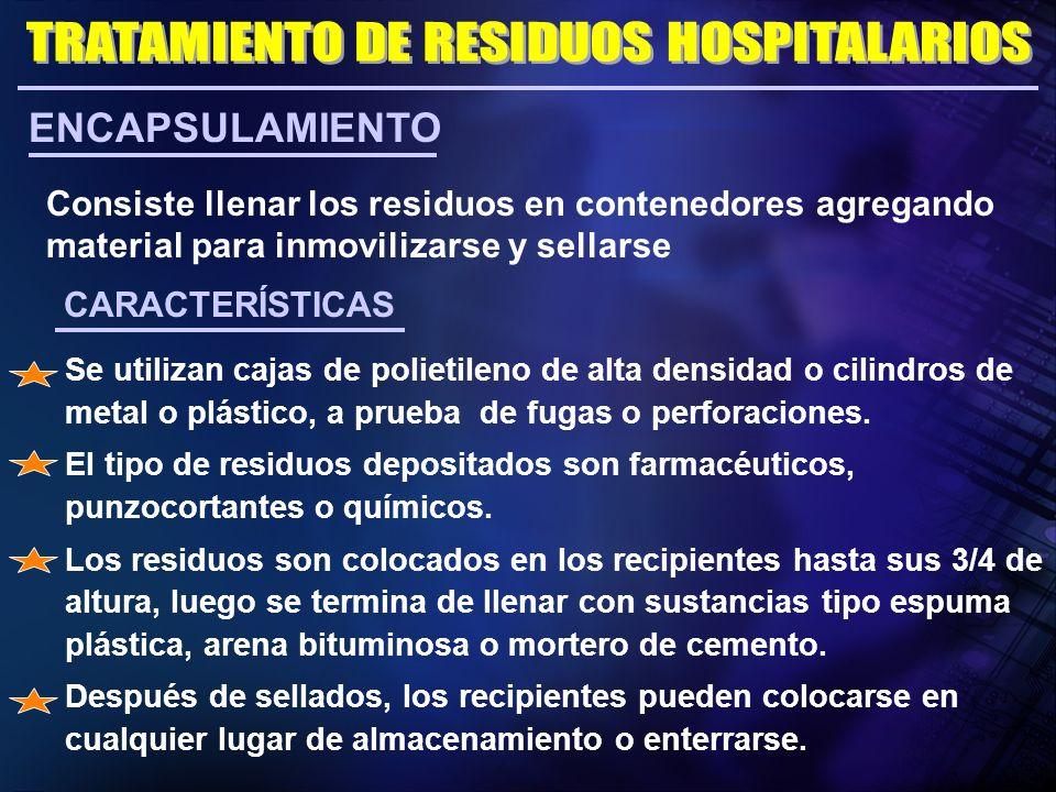 TRATAMIENTO DE RESIDUOS HOSPITALARIOS