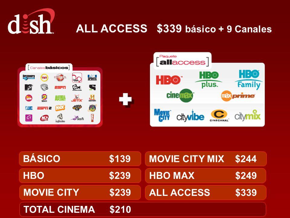 ALL ACCESS $339 básico + 9 Canales