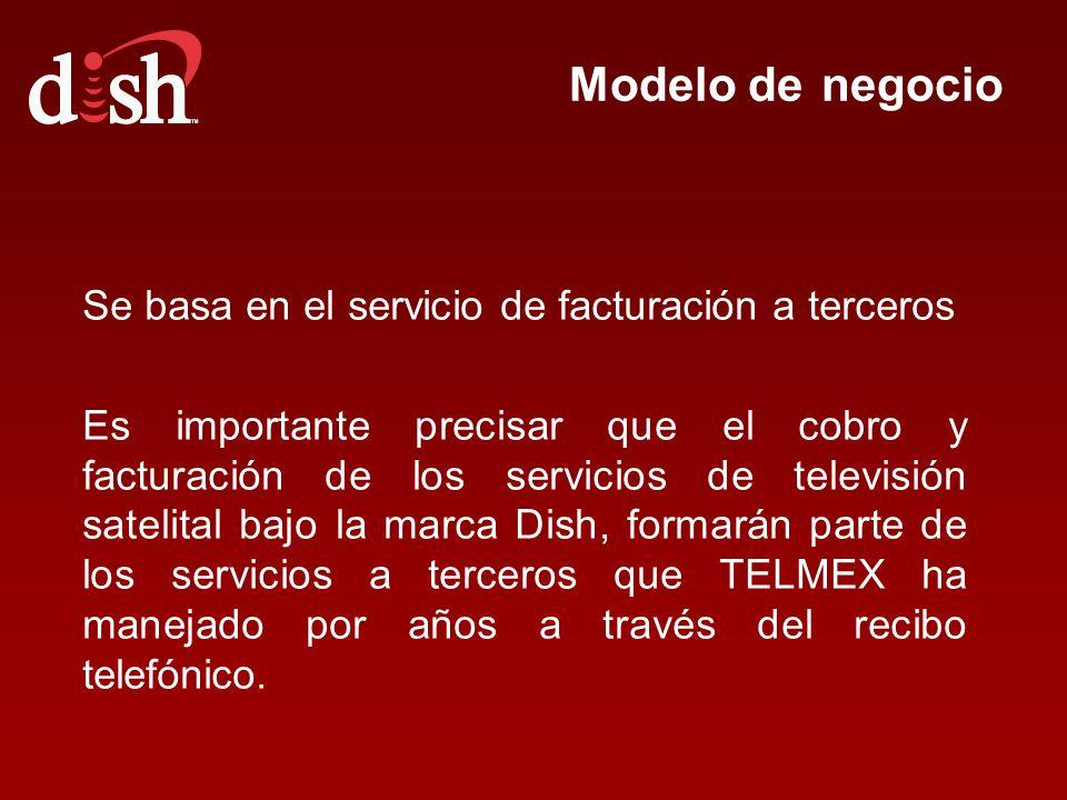 Modelo de negocio Se basa en el servicio de facturación a terceros