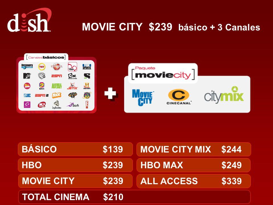 MOVIE CITY $239 básico + 3 Canales