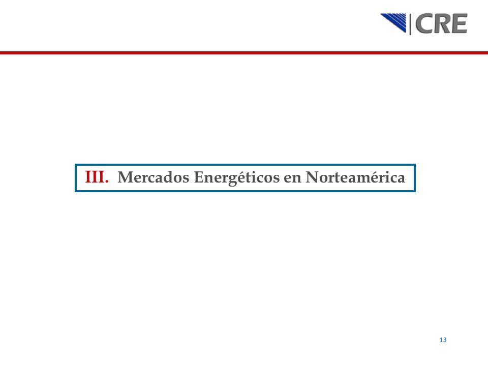 Mercados Energéticos en Norteamérica