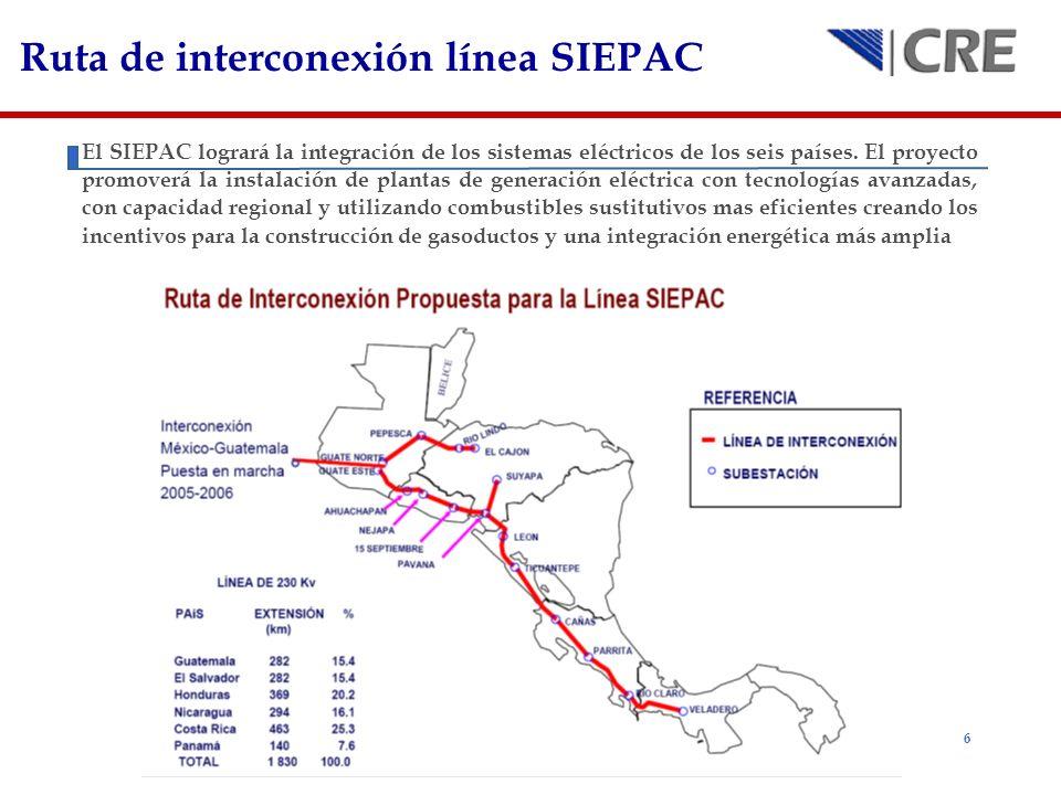 Ruta de interconexión línea SIEPAC