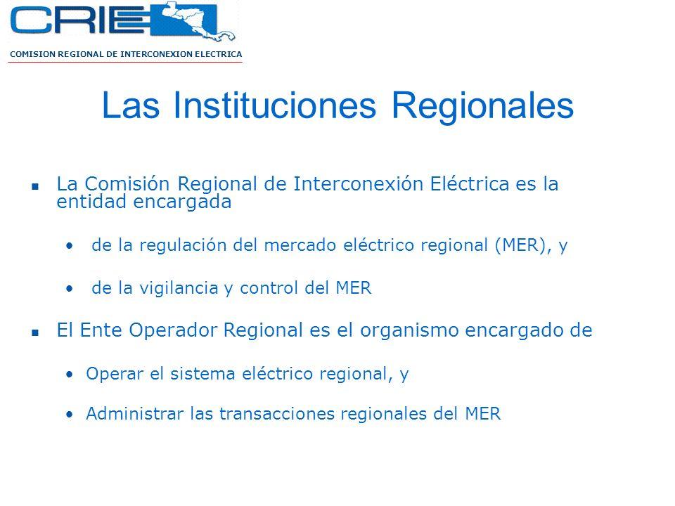 Las Instituciones Regionales