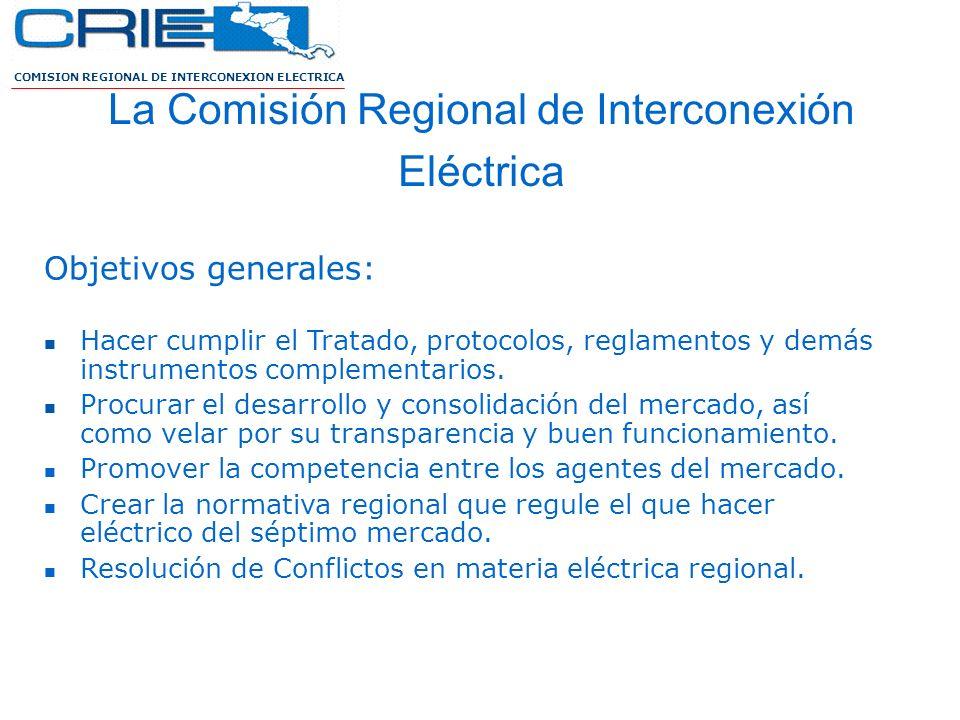 La Comisión Regional de Interconexión Eléctrica