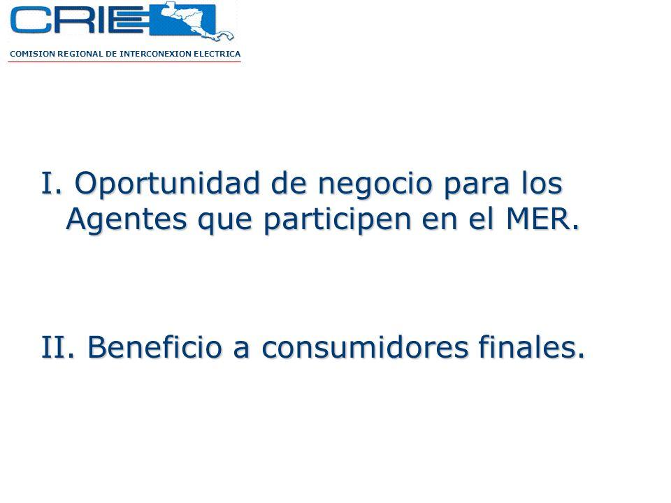 I. Oportunidad de negocio para los Agentes que participen en el MER.
