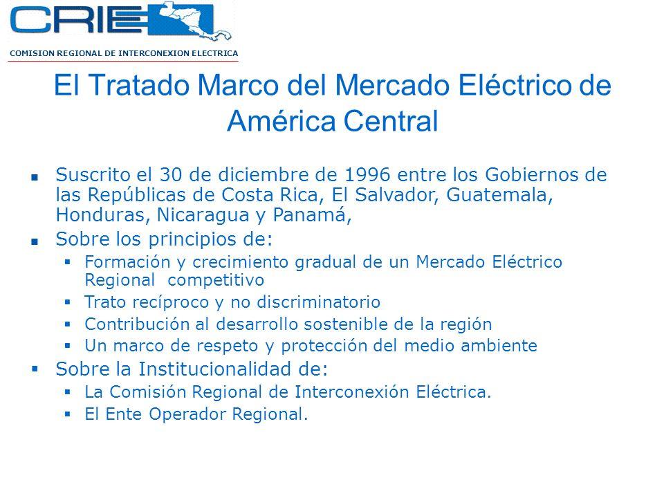 El Tratado Marco del Mercado Eléctrico de América Central