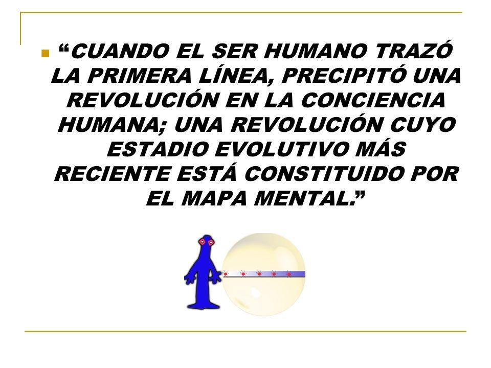 CUANDO EL SER HUMANO TRAZÓ LA PRIMERA LÍNEA, PRECIPITÓ UNA REVOLUCIÓN EN LA CONCIENCIA HUMANA; UNA REVOLUCIÓN CUYO ESTADIO EVOLUTIVO MÁS RECIENTE ESTÁ CONSTITUIDO POR EL MAPA MENTAL.